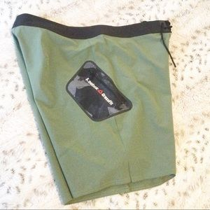 "NWOT Reebok CrossFit Army Green Shorts 32"""